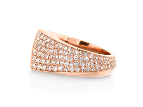 Pamela Lauz Jewellery - Solstice Rose Gold Diamond Cocktail Ring