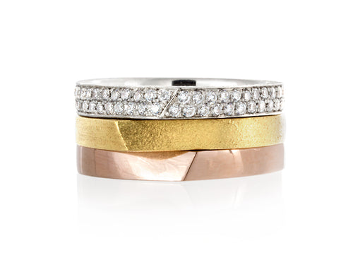 Pamela Lauz Jewellery - Edge Diamond Pave Ring
