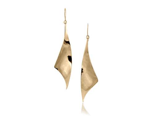 Pamela Lauz Jewellery - Viento Large Brass Earrings