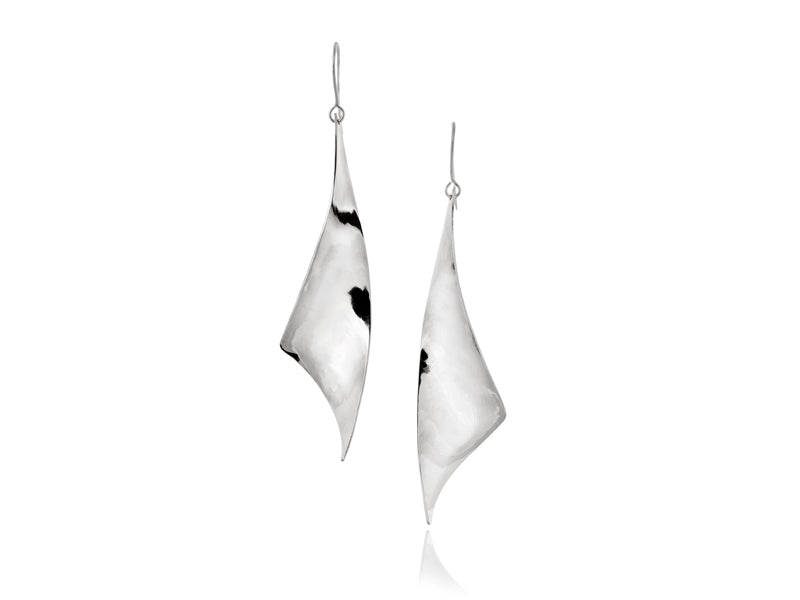 Pamela Lauz Jewellery - Viento Large Silver Earrings