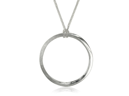 Pamela Lauz Jewellery - Mobius Single Silver Pendant