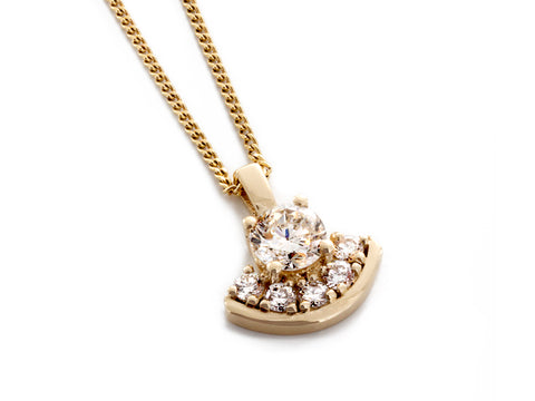 Diamond Basketball Pendant in White, Yellow, and Rose Gold