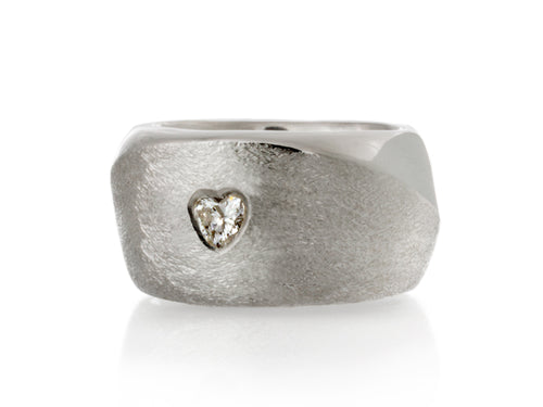 Pamela Lauz Jewellery - Solstice Wide Band With Diamonds