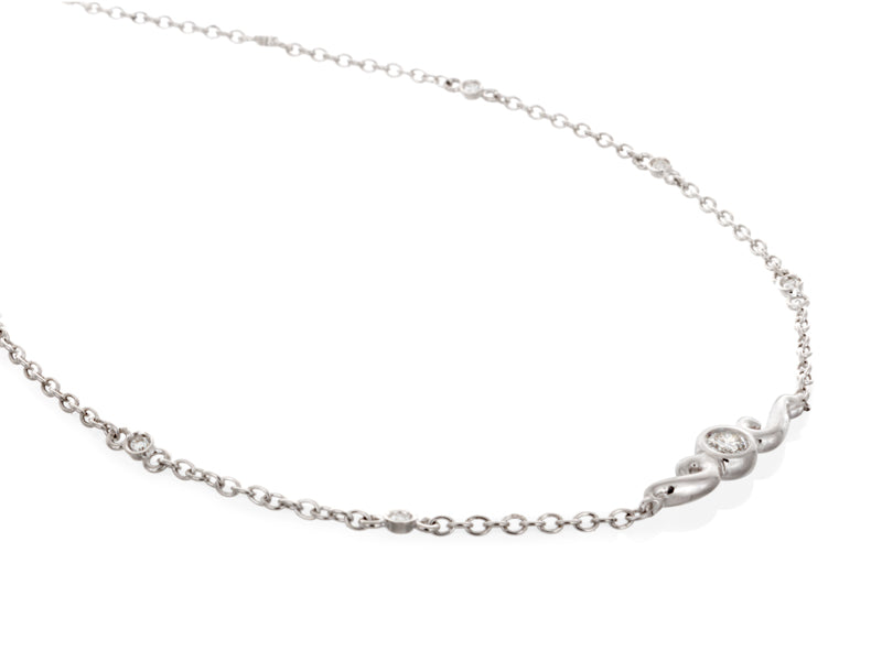 Pamela Lauz Jewellery - Gold and Diamond Scroll Anklet
