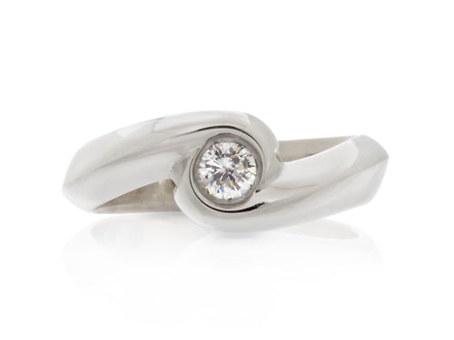 Pamela Lauz Jewellery - Rosette Diamond Solitaire Ring
