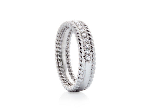Pamela Lauz Jewellery - Double Twist Diamond Wedding Band