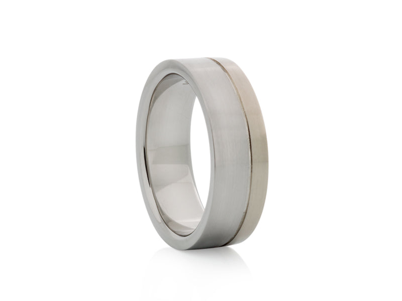 Pamela Lauz Jewellery - Two-tone White Gold Band