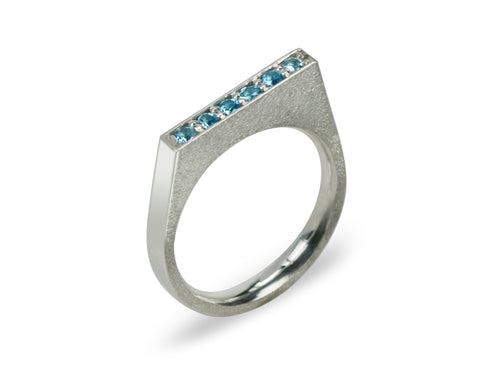 Pamela Lauz Jewellery - Iris Blue Topaz Ring