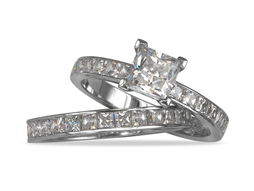Pamela Lauz Jewellery - Princess Wedding Rings