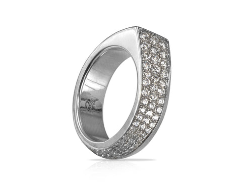 Rosette Medium Diamond Eternity Band