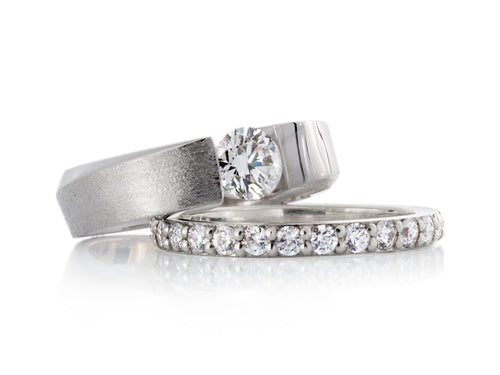 Pamela Lauz Jewellery - Solstice Round Diamond Wedding Rings