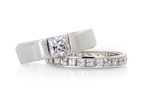 Pamela Lauz Jewellery - Solstice Princess Diamond Wedding Ring