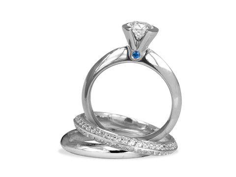 Crossover Diamond Engagement Ring