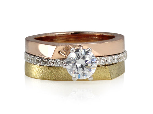 Pamela Lauz Jewellery - Edge Wedding Rings