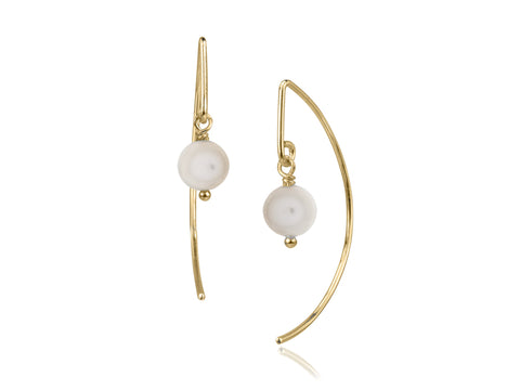 Blossom Baby Pearl and Gold Stud Earrings