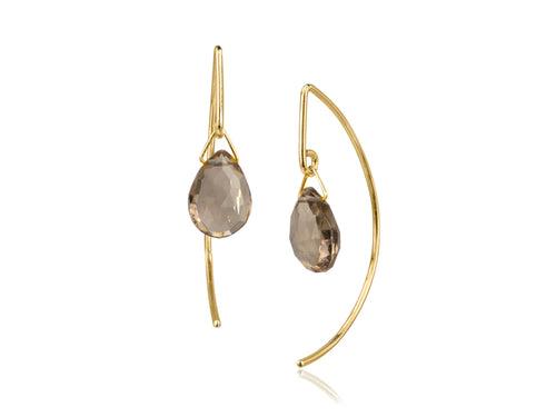 Pamela Lauz Jewellery - Lantern Smokey Quartz Earrings