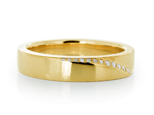 Pamela Lauz Jewellery - Kimono Gold Ring with Diamonds