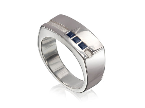 Bronze-plated Tungsten Band with Bevelled Edges