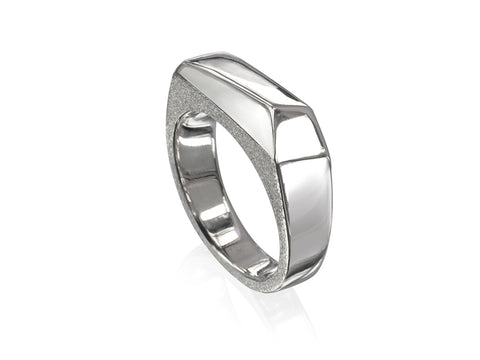 Facets Slim Ring