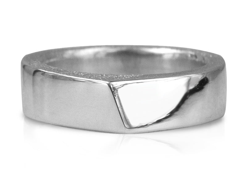 Pamela Lauz Jewellery - Edge Large Silver Ring High Polish