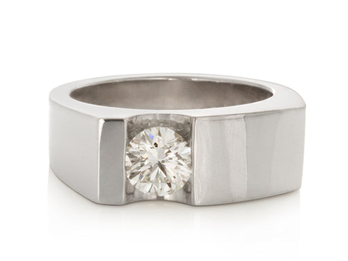 Pamela Lauz Jewellery - Surface Ring with Channel-set Diamond