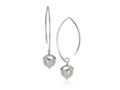 Pamela Lauz Jewellery - Acorn White Pearl Earrings