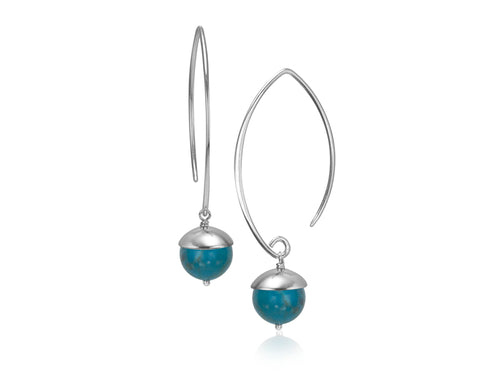 Pamela Lauz Jewellery - Acorn Turquoise Earrings