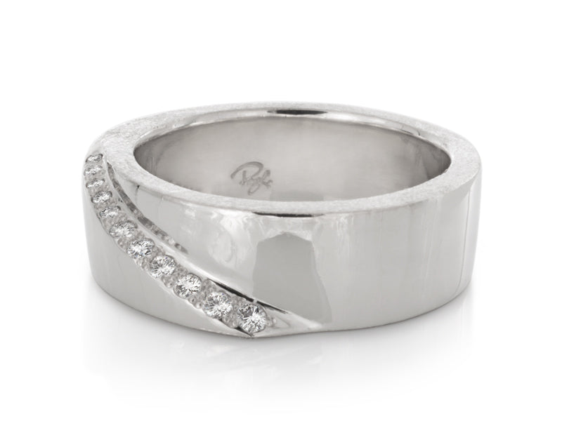 Pamela Lauz Jewellery - Kimono Diamond Wedding Band