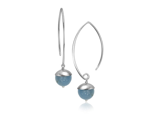 Pamela Lauz Jewellery - Acorn Aquamarine Earrings