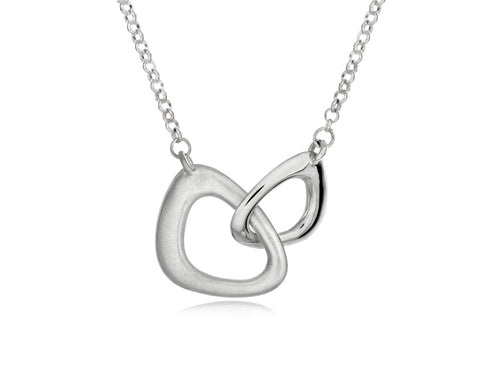 Pamela Lauz - Terra Links Small Silver Necklace