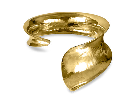 Viento Wide Symmetrical Brass Cuff