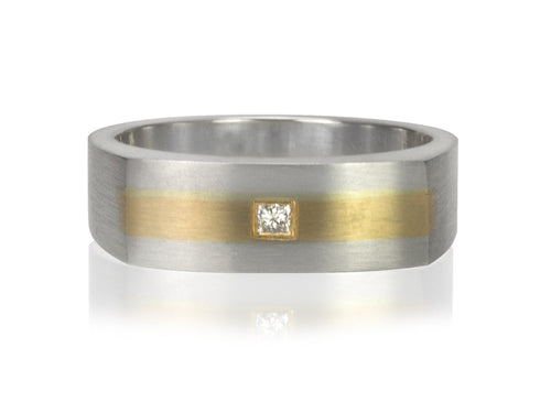 Pamela Lauz Jewellery - Surface Two -Toned Ring