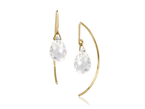 Pamela Lauz Jewellery - Lantern Rock Crystal Earrings