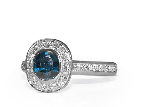 Solstice Diamond Dip Cocktail Ring