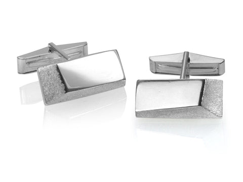 Angulos Silver and Bronze Cufflinks