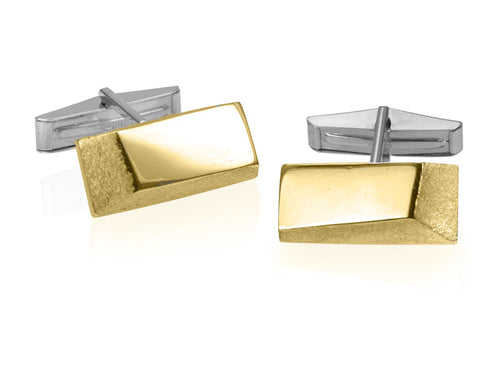 Pamela Lauz Jewellery - Facets Silver & Bronze Cufflinks
