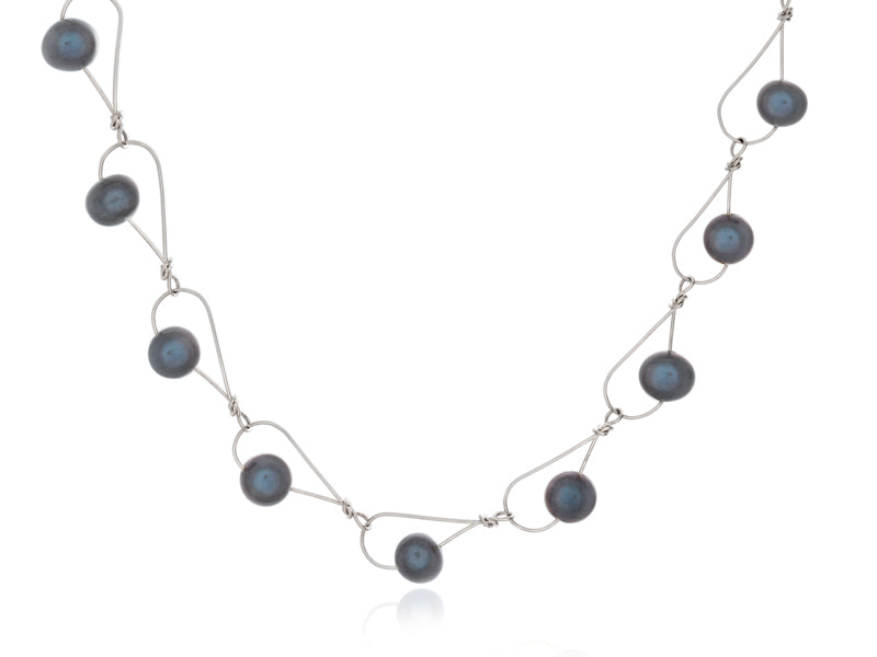 Pamela Lauz Jewellery - Rain Black Pearl Necklace