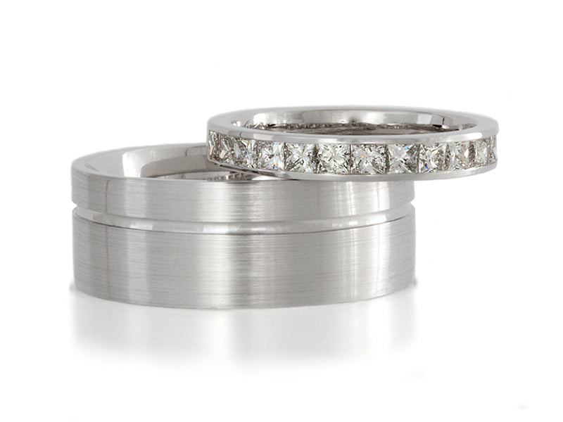 Pamela Lauz Jewellery - Platinum and Diamond Wedding Bands