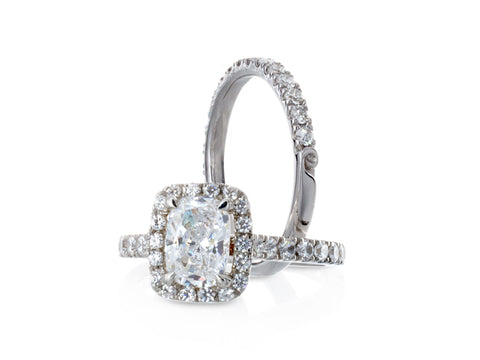 Rosette Diamond Solitaire Ring