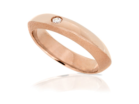 Solstice Diamond Stream Wedding Band