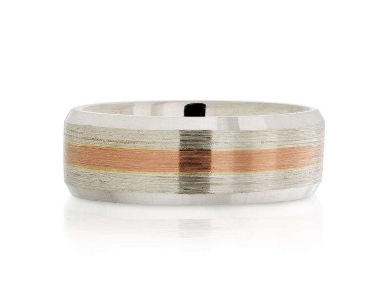 Pamela Lauz Jewellery - Two-Tone Layered Wedding Band