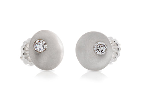 Pamela Lauz Jewellery - Diamond Pillow Stud Earrings