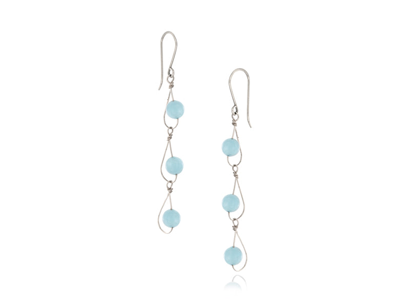 Pamela Lauz Jewellery - Rain Aquamarine Trio Earrings