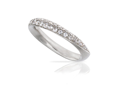 Large Diamond Eternity Wedding Band