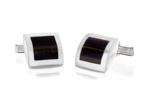 Pamela Lauz Jewellery - Amulet Tiger Eye Cufflinks