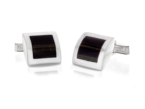 Facets Silver Cufflinks