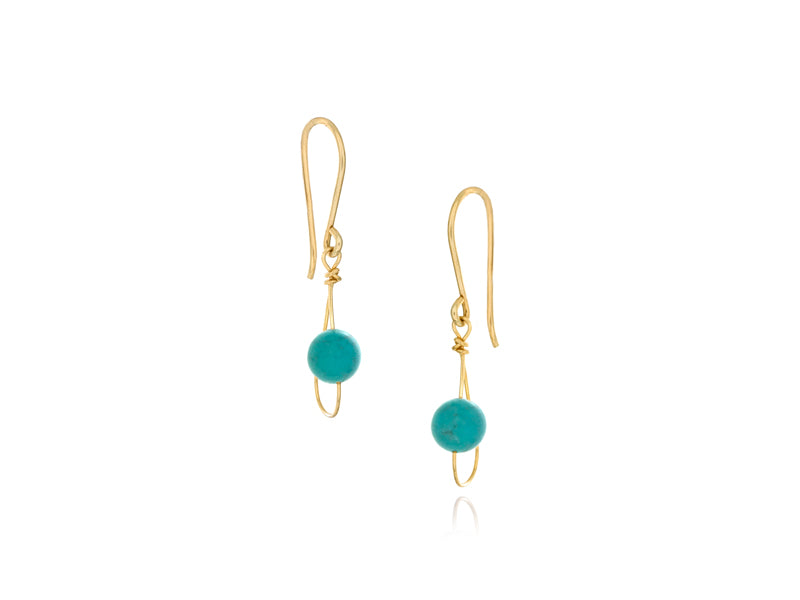 Pamela Lauz Jewellery - Rain Turquoise Single Earrings