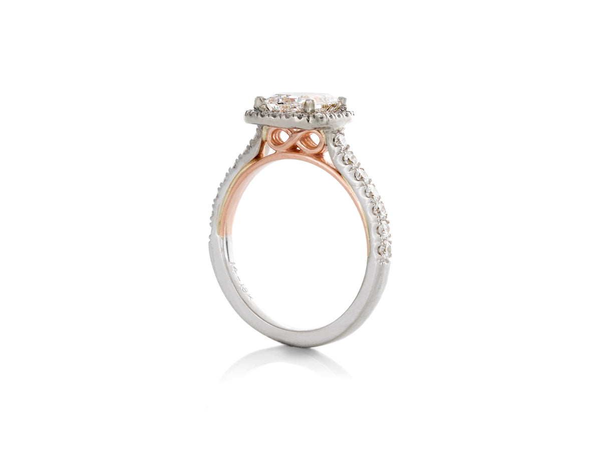 Princess Diamond Infinity Engagement ring