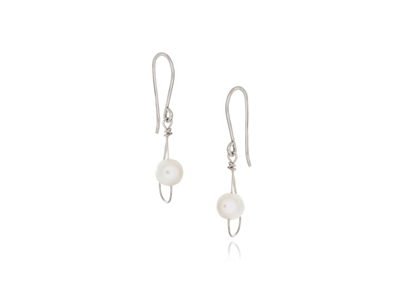 Pamela Lauz Jewellery - Rain White Pearl Single Earrings