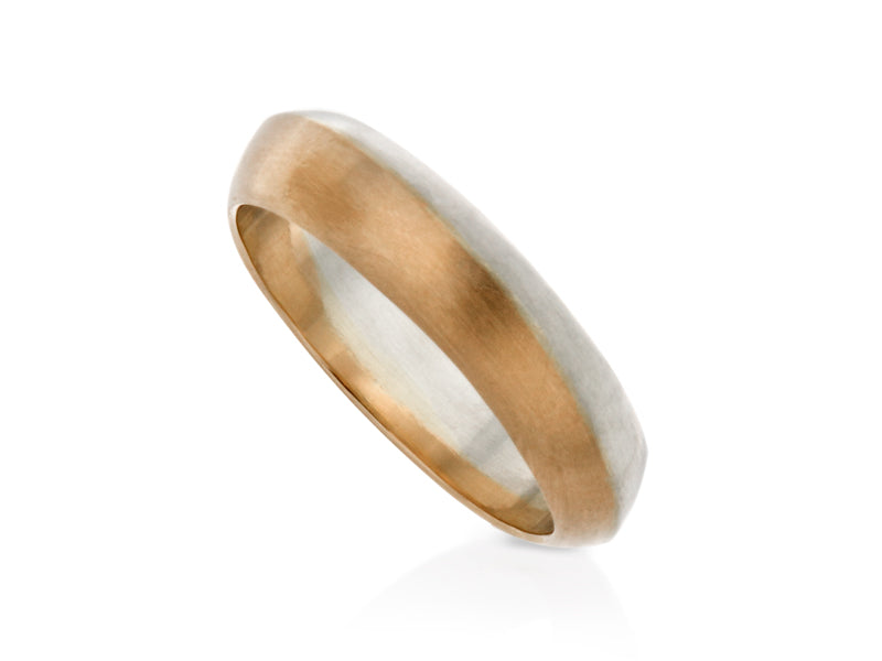 Pamela Lauz Jewellery - Solstice Two-tone Wedding Band